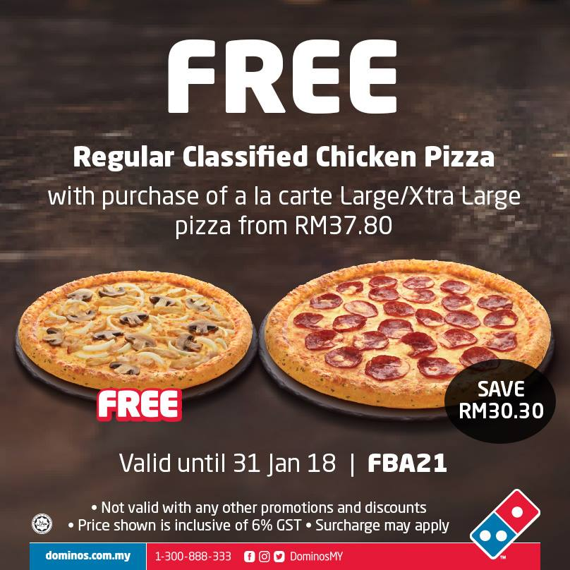 At Domino's we love to offer our customers pizzas at great value prices and that includes offering fantastic deals with our vouchers and offers. We regularly have special offers for both pick-up and delivery, for piping hot pizzas and tasty sides - even our decadent desserts.