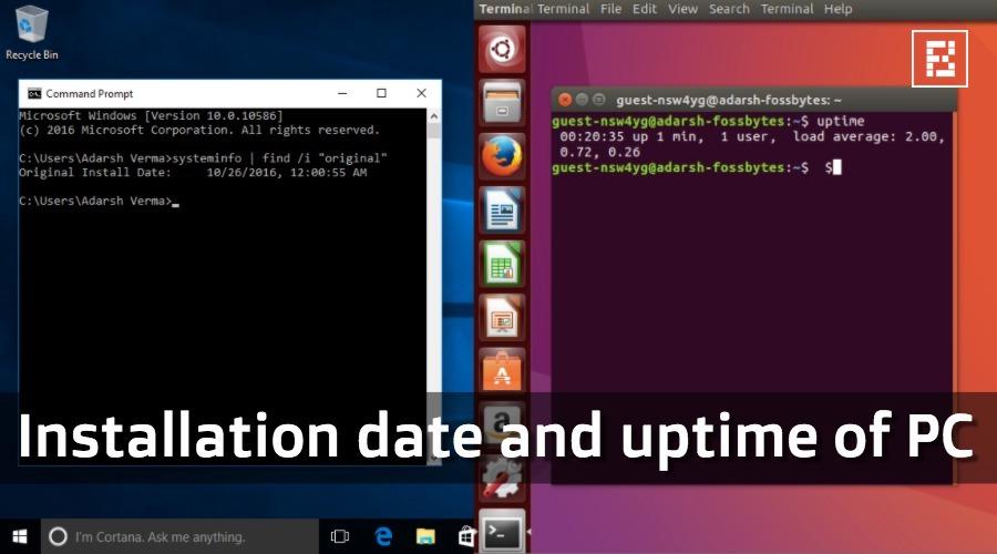 como ver fecha de instalacion sistema operativo