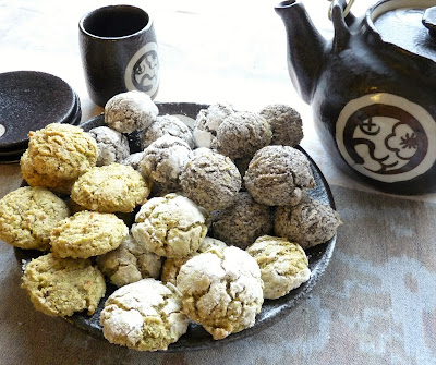 Pistachio-Coconut Macaroons, and Almond-Poppyseed Macaroons