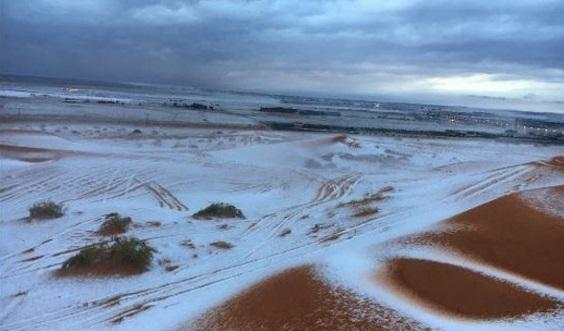 (Foto & Video) Salji Tukar Kawasan Gurun di Tengah, Barat Laut Arab Saudi Jadi Putih. Tanda Kiamat Sudah Dekat??