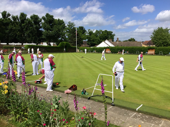 North Mymms Bowls Club in action Image courtesy of North Mymms Bowls Club