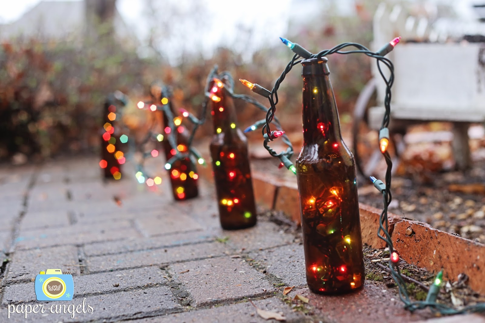 Beer Bottle Christmas Lights