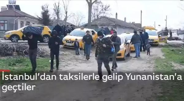Μετανάστες φθάνουν με ταξί στον Έβρο και περνάνε ανενόχλητοι στην Ελλάδα (φωτο)