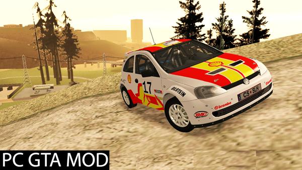 Free Download Vauxhall Corsa Rally  Mod for GTA San Andreas.