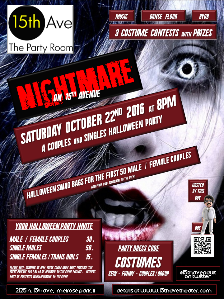 The Huge 15th Ave. Adult Theater Halloween Party in Chicago