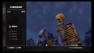 A skeleton at the crafting bench in Elder Scrolls Online