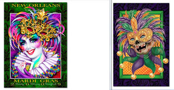 Classic Mardi Gras Posters: Cover Art Side by Side