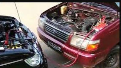 Cara menghidupkan aki mobil yang soak
