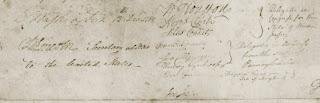Washington's signature.