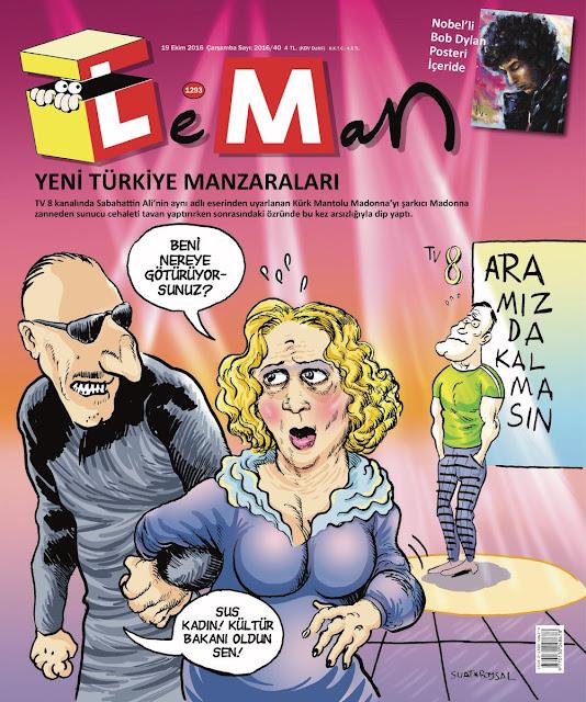 Leman Dergisi | 19 Ekim 2016 Kapak Karikatürü