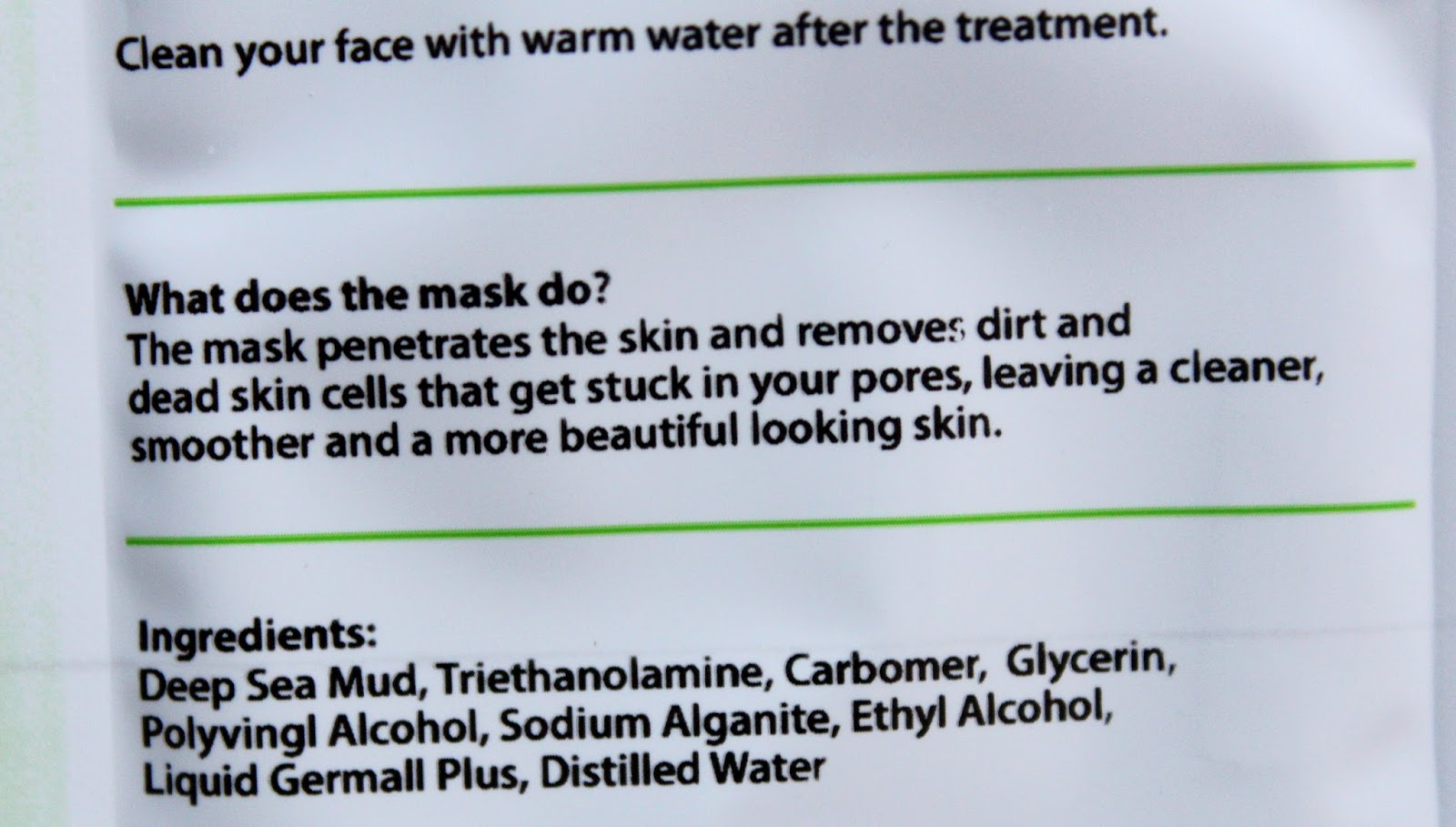 schwarze poren maske