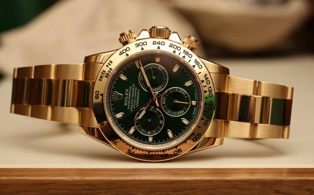 7183bc39ef7 Rolex Cosmograph Daytona 116508 Green Dial Watch