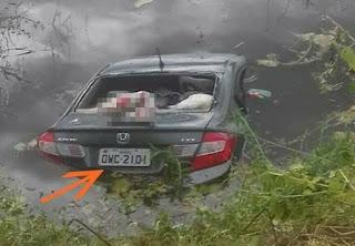 Carro cai em açude, deixa três mulheres e criança mortas em rodovia do RN; vídeo