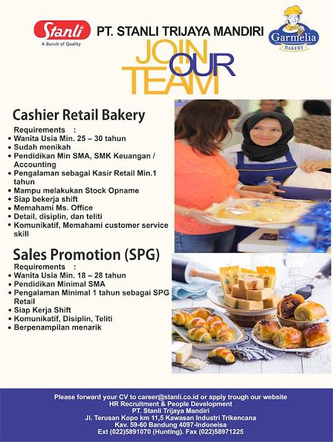 lowogan kerja cashier PT stanli Trijaya mandiri