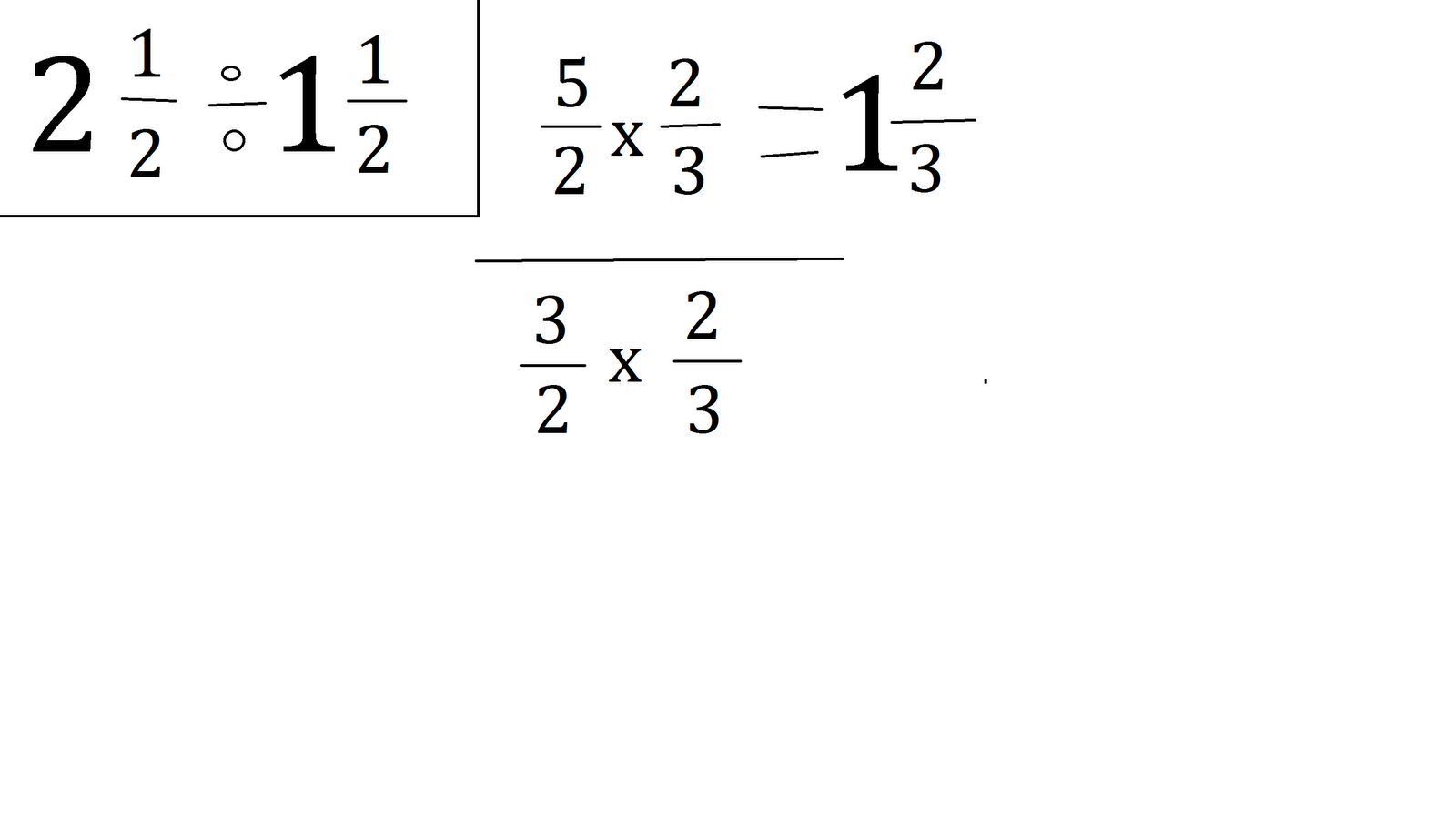 fraction diagram