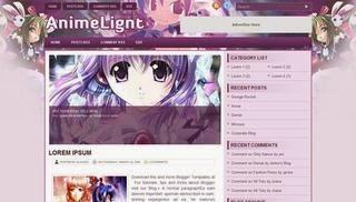 Anime Light Blogger Template 2015