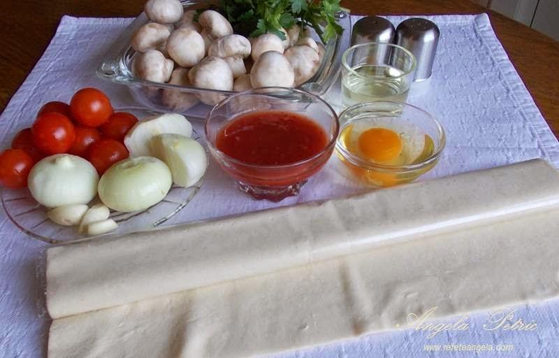Preparare cusulete cu ciuperci-ingrediente