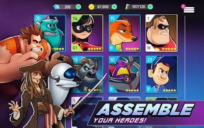 apa kabar nih sob pastinya dalam keadaan sehat semuanya kan  Disney Heroes Battle Mode MOD APK v0.4.1 for Android Original Version Terbaru 2018