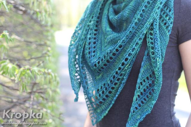 Chusta na drutach z włóczki Malabrigo Sock