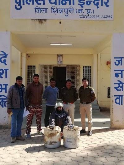 70 लीटर अबैध शराब के साथ एक आरोपी गिरफ्तार | Indar news