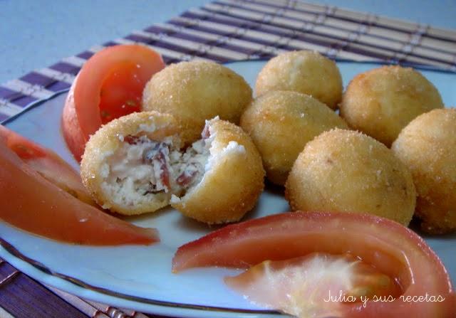 Bolitas de queso. Julia y sus recetas