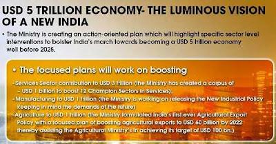 Plan for USD 5 Trillion Economy