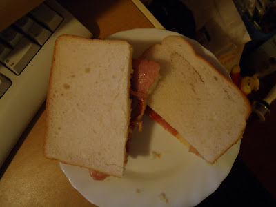 A Late Night Snack of a Bacon Sandwich Made By My Husband