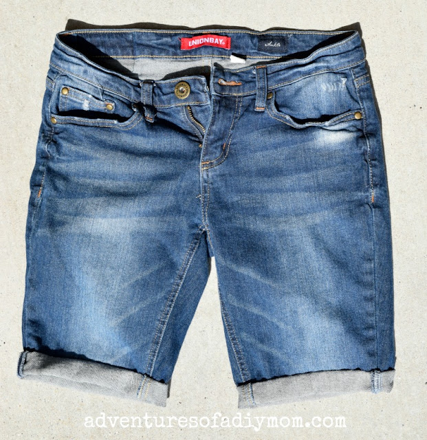 cuffed shorts using a blind hem stitch