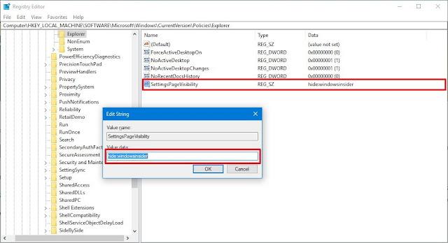 تقييد الدخول إلى الصفحات في تطبيق الإعدادات فى ويندوز 10