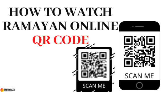 How to watch Ramayan online - QR Code