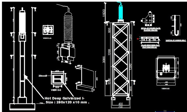 132kV Power Cable Outdoor Steel Structure Design