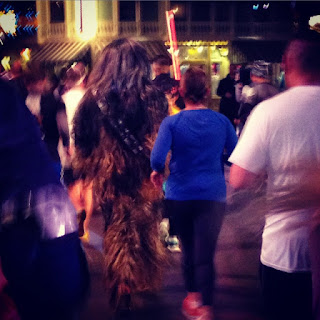 Chewbacca running the runDisney Star Wars Half Marathon race
