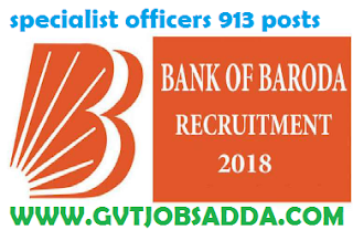 Bank of badoda recruitment 2018 apply online 913 posts