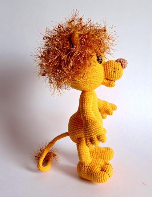 лев, бонифаций,игрушка вязаная,игрушка крючком, лев вязаный