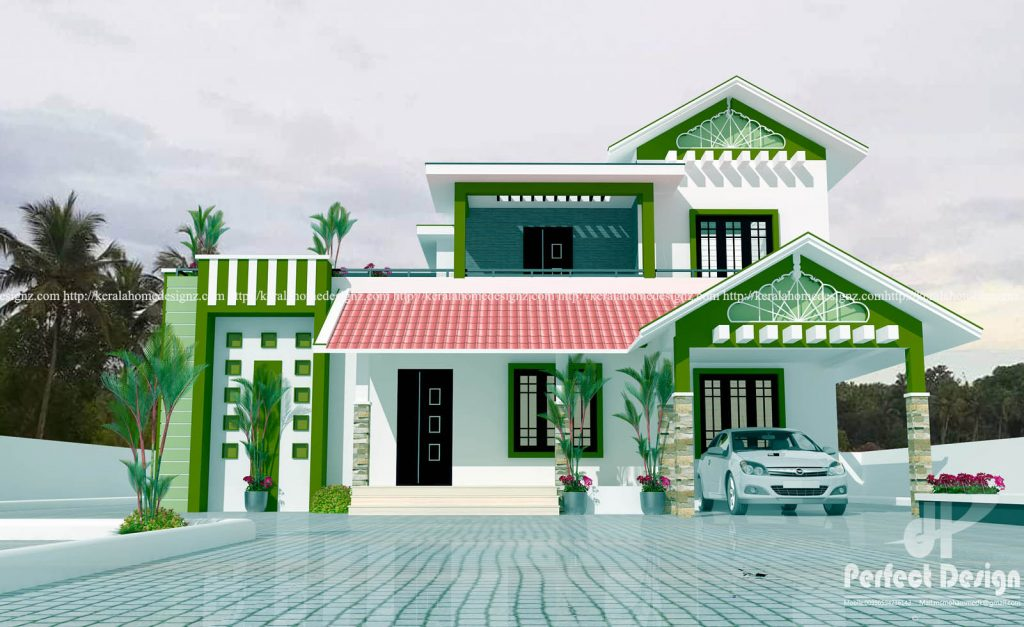 If you are looking for a house design that will fit your small family this post is for you. Houses below are taken from keralahomedesignz.com. You can choose between one story or two story house with two to three bedroom.   Aside from being small, these houses have a stylish or fashionable facade perfect for 21st-century living. With this design, your house won't left behind in your neighboorhood.