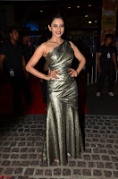 Rakul Preet Singh in Shining Glittering Golden Half Shoulder Gown at 64th Jio Filmfare Awards South ~  Exclusive 019.JPG