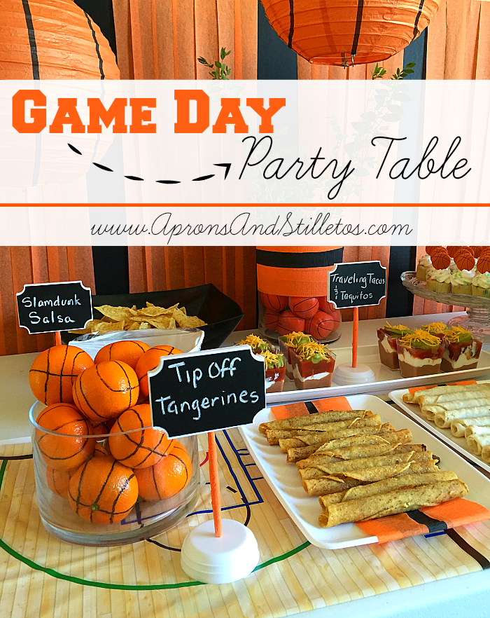 Game Day Basketball Party Table