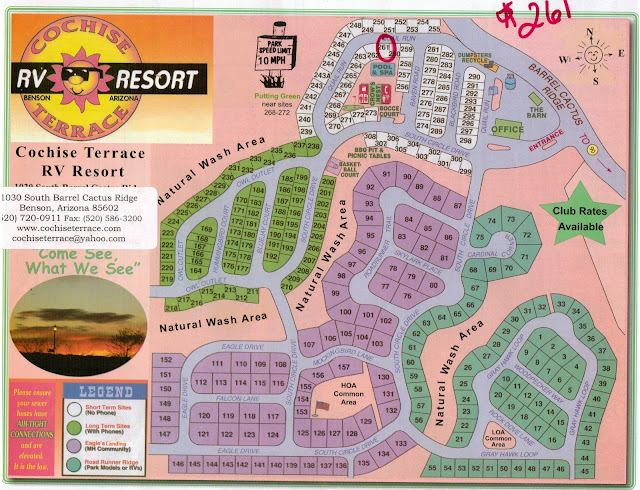 The Frugal Fulltimer Benson Arizona Cochise Terrace Rv