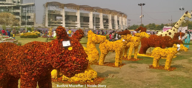 Noida Diary: Floral Arrangement in Animal Forms at the Noida Flowr Show