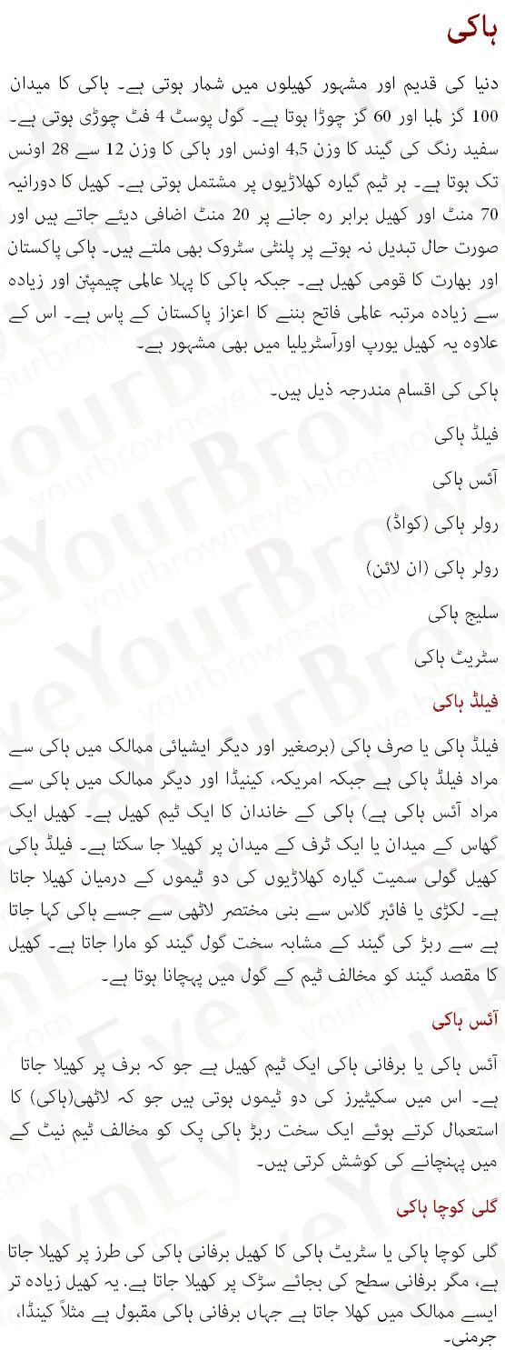 Hockey History In Urdu Hockey Rules Information Ice Hockey Essay