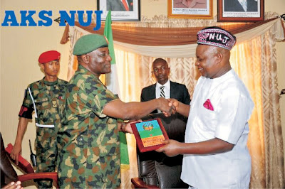 Military scores NUJ Boss high  *vows to strengthen ties with Journalists