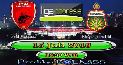 Prediksi Bola855 PSM Makassar vs Bhayangkara Utd 15 Juli 2018