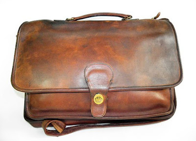 Distressed Coach Briefcase