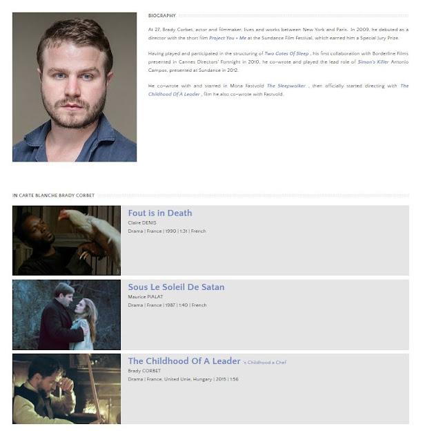 9 Mayo - #TheChildhoodofaLeader Parte de Carta Blanca de Brady Corbet en the Champs-Élysées Film Festival!!!! CarteBlanche