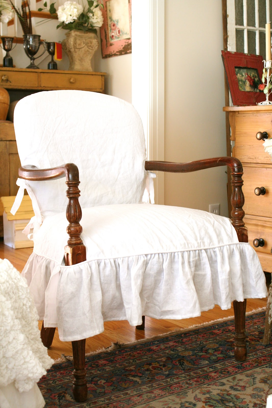How To Slipcover A Chair With Arms Curved Corner Custom Slipcovers By Shelley Wood Arm