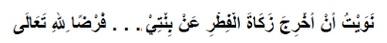 Bacaan Doa Niat Zakat Fitrah untuk anak perempuan