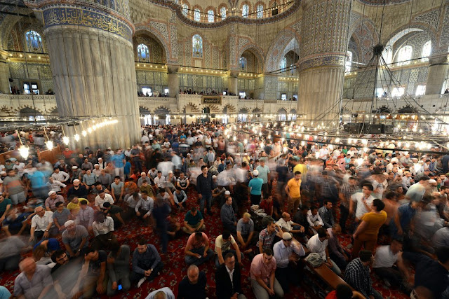 Istanbul, Turkey people celebrating eid al adha on 12th september 2016