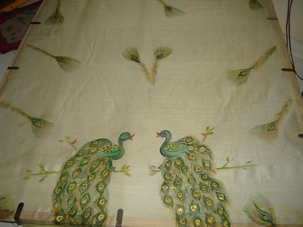 Peacock Patterns Fabric Painting Easy - Year of Clean Water