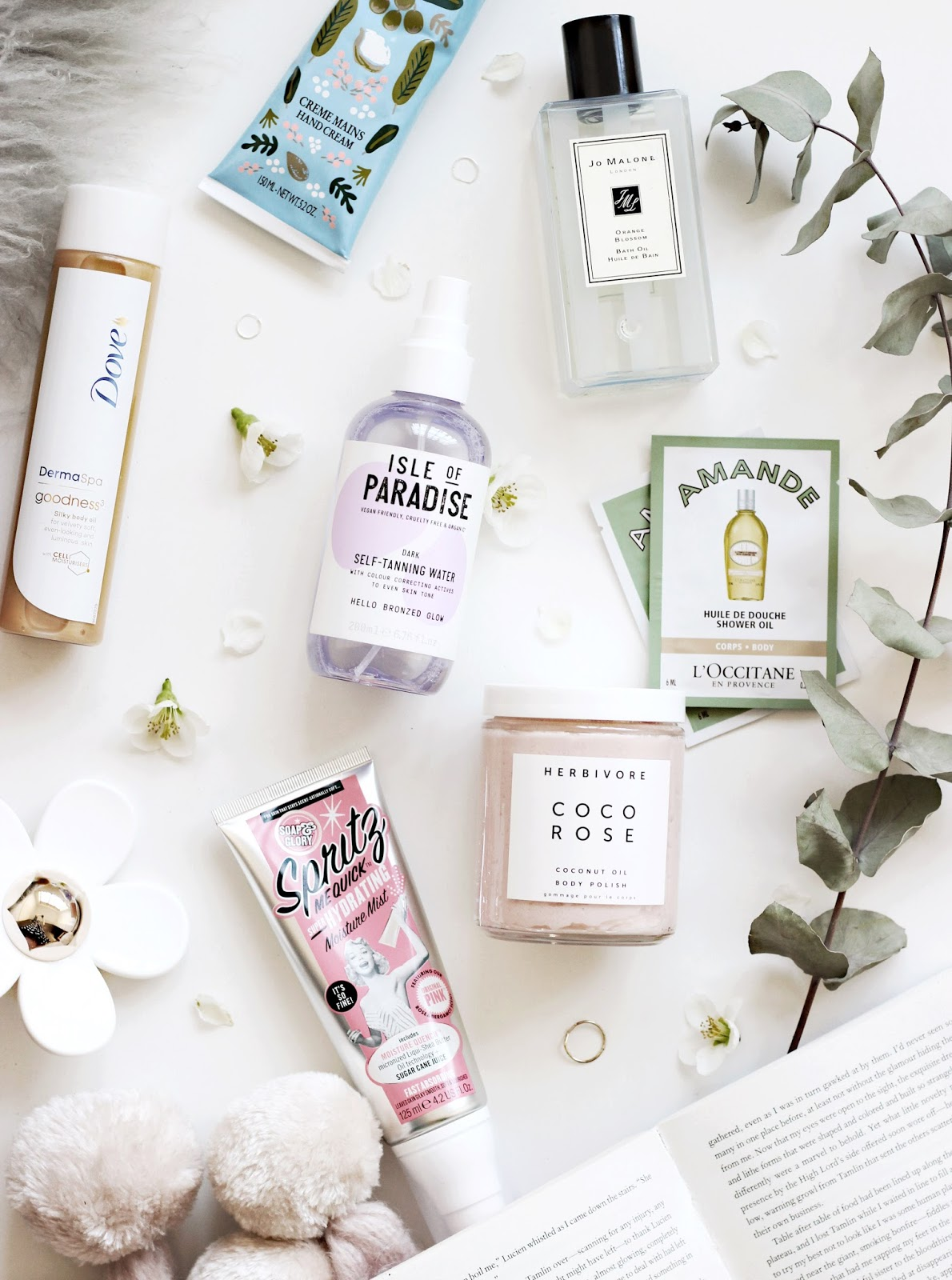L'Occitane Body Care, Soap and Glory, Dove, Jo Malone, Isle of Paradise