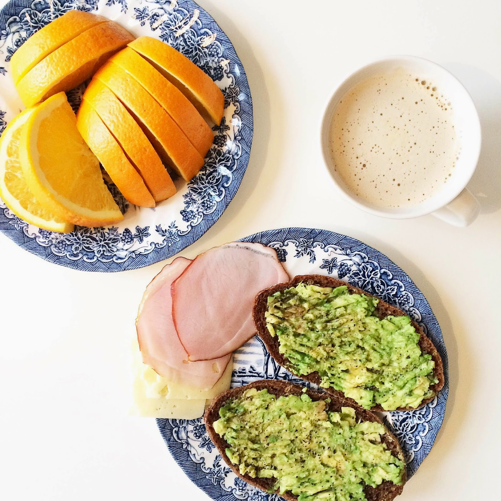 avocado-toast-fresh-orange-coffee-healthy-breakfast